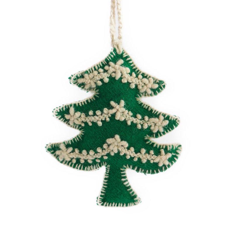 Christmas hanger tree, 100% sheep's wool