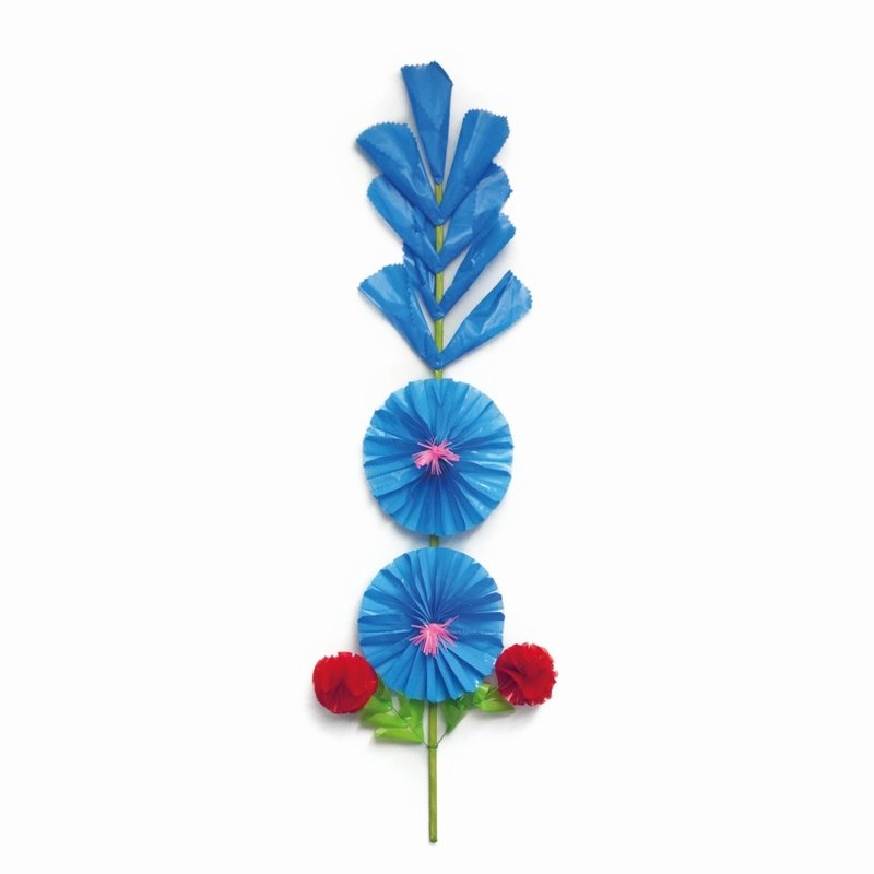 Stand up flower, plastic