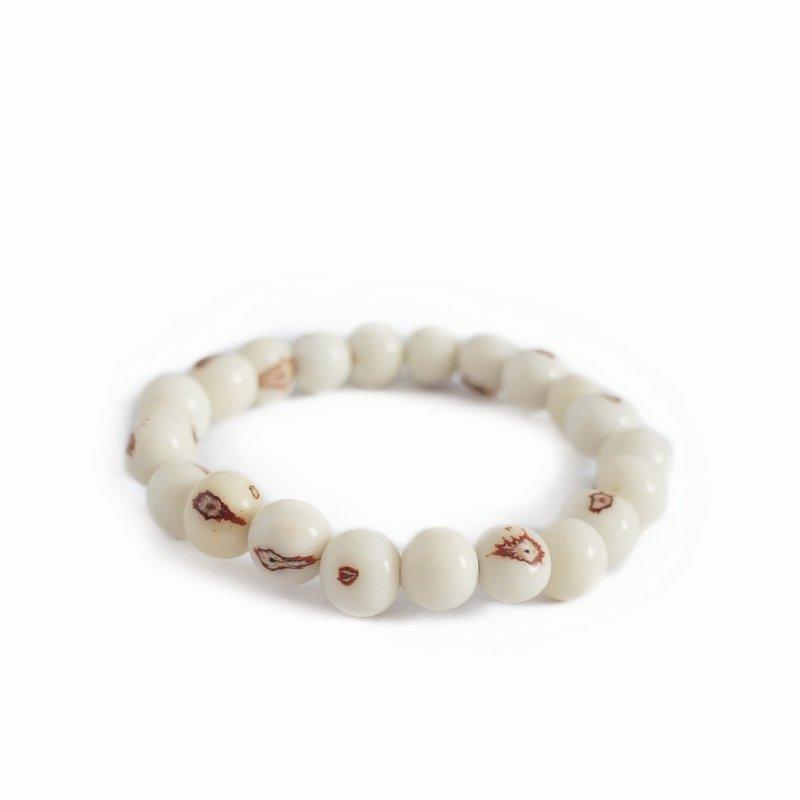 Armband, naturel noten (wit), groot
