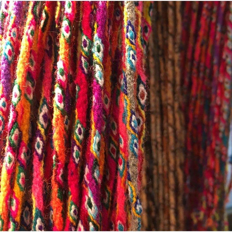 Armband Inca-knoopkoord, multicolour