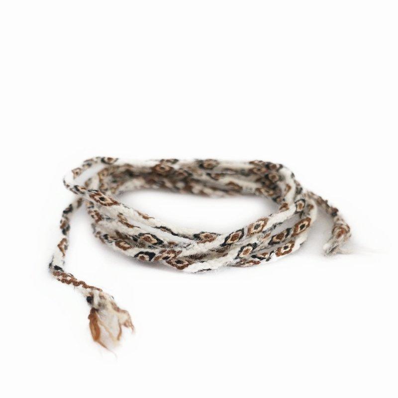 Armband Inca-knoopkoord, naturel