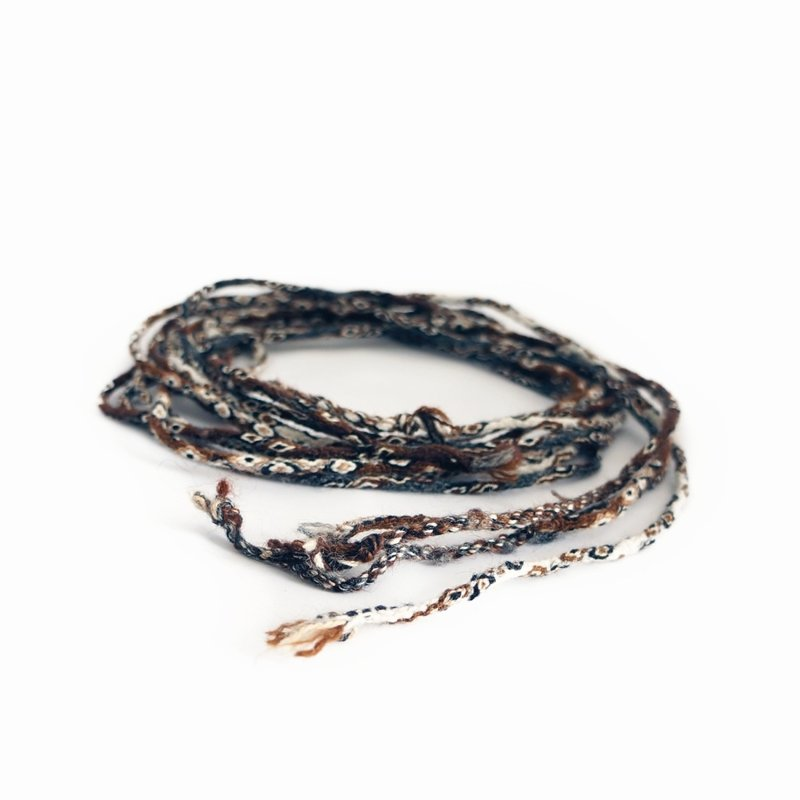 Bracelet Inca-knotted cord, natural
