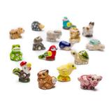 Lucky animals, mini, earthenware, assorted