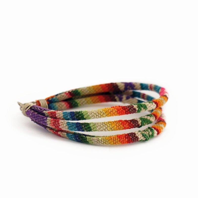 Armband Inca trio, Indiaanse textiel
