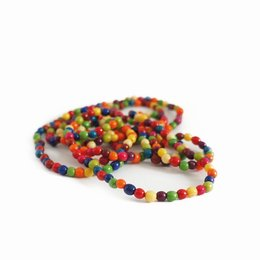 Necklace mini nuts coloured, double length