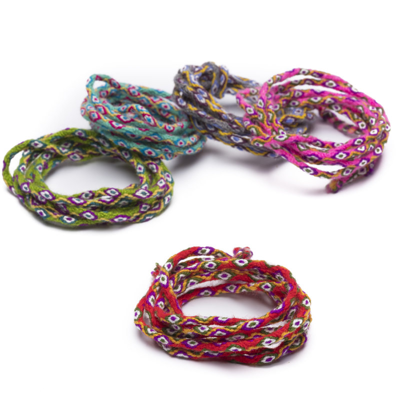 Inca cord, alpaca wool, multicolour