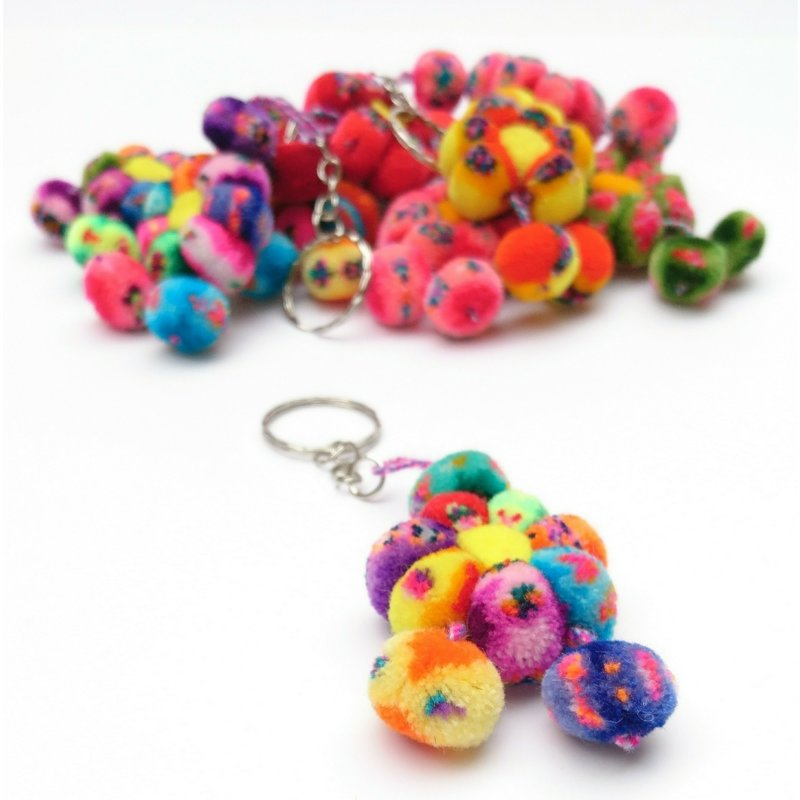 Key hanger, rainbow flower