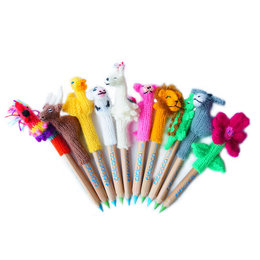 Pen puppet, excl. pencil, assorted