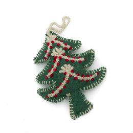 Christmas hanger tree, decoration red-white