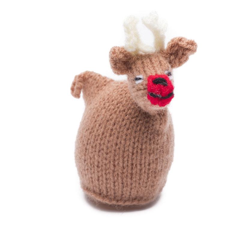 Egg-cosy reindeer