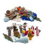 Finger puppets assorted, 100% sheep's wool