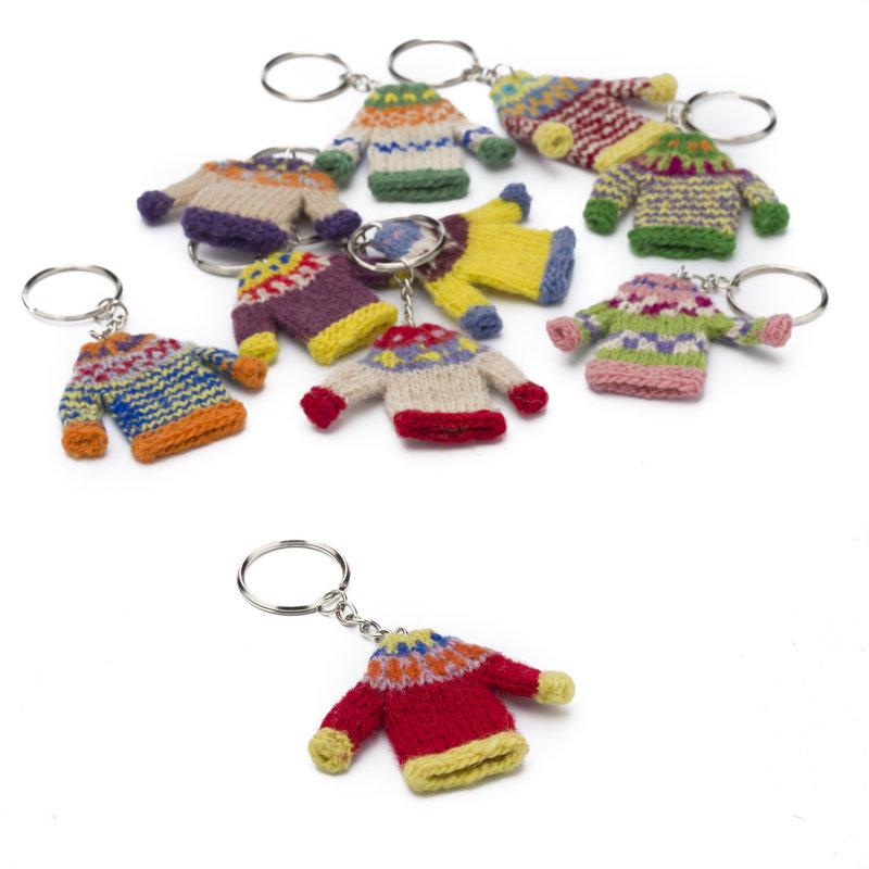 Key ring sweater, 100% sheep's wool