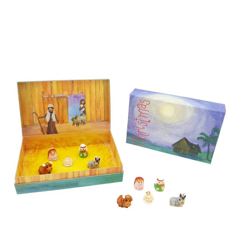 Stories-Kerst, 5-delig aardenwerk