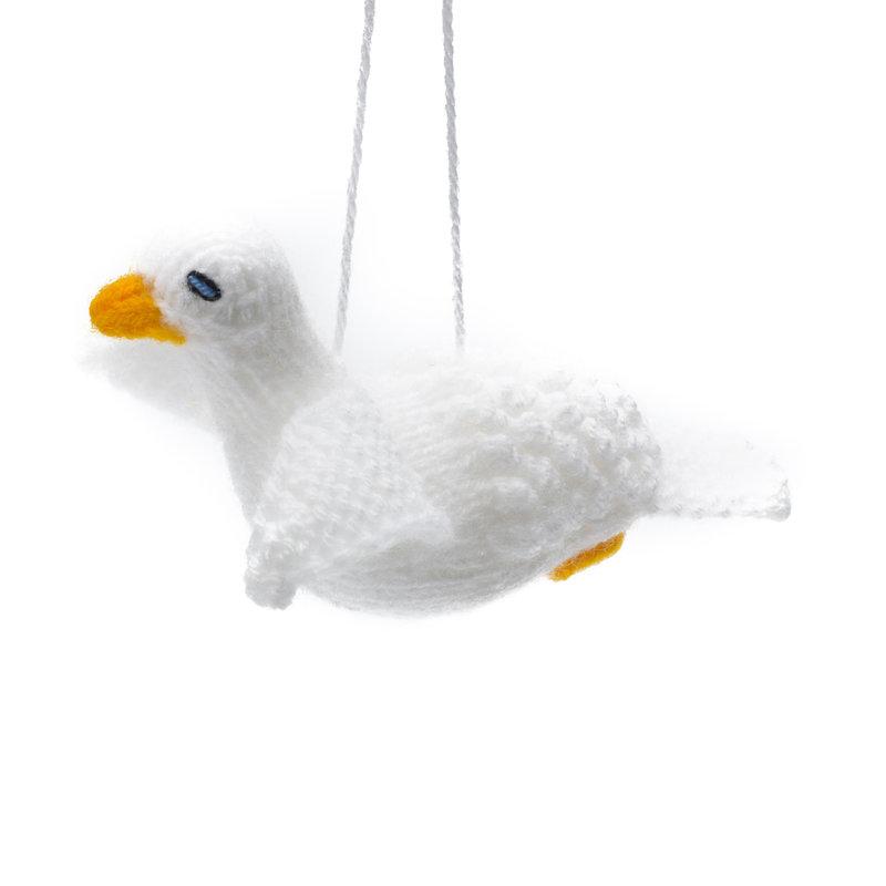 Gebreid wit duifje
