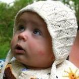 Babymuts ajour, 100% katoen