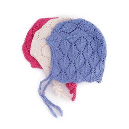 Baby hat open work, cotton