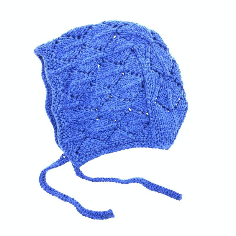 Baby hat open work, 100% cotton
