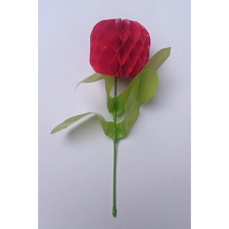 Sierbloem bol, mini - rood
