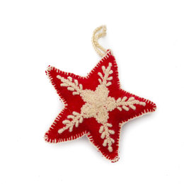 Christmas hanger star, 100% sheep's wool