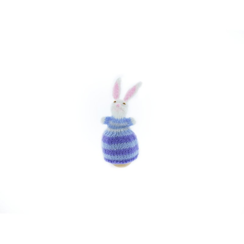 Egg-cosy rabbit with dress