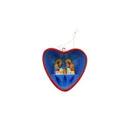 Nativity scene in heart