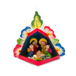 Nativity scene in pyramid