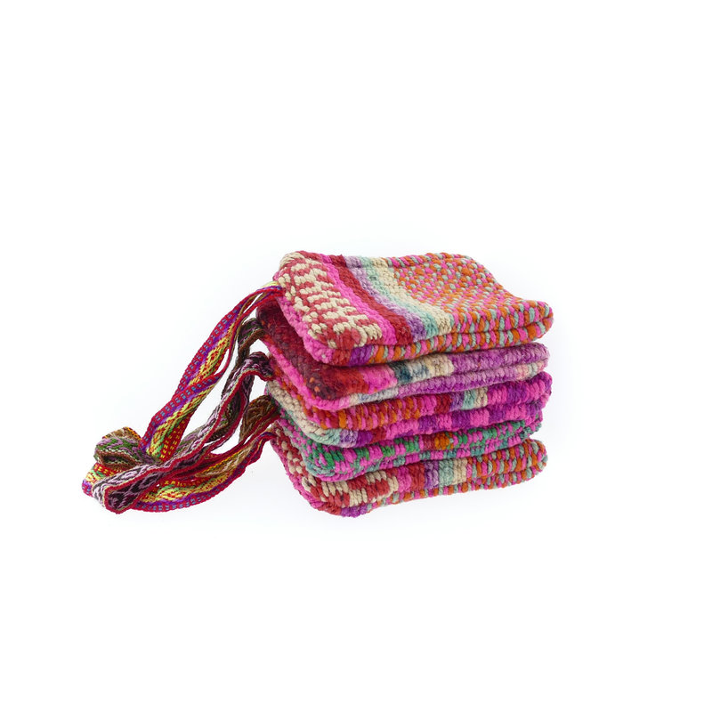 Small case of recycled blankets