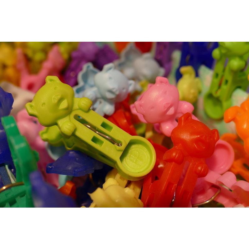 Knijper varken, kleurassorti