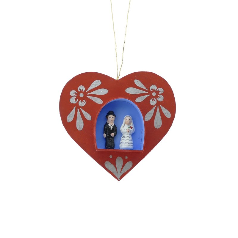 Heart with bridal couple, hanger