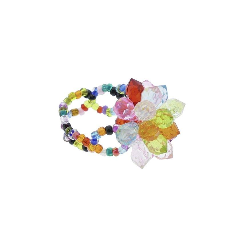 Bling-bling-ring met kleine bloem