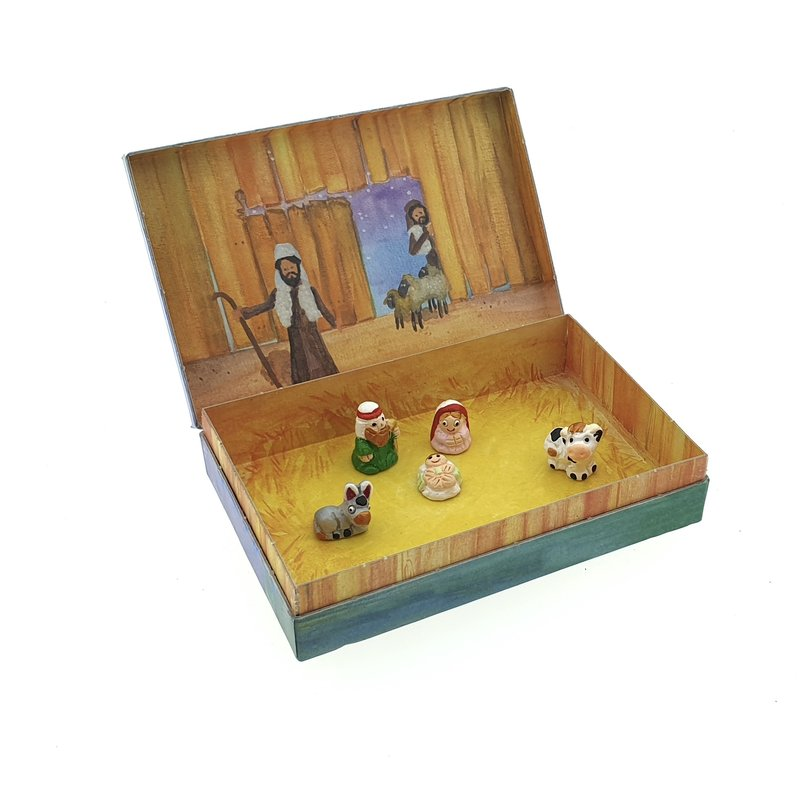 Stories - Christmas, Holy Family 5x, earthenware