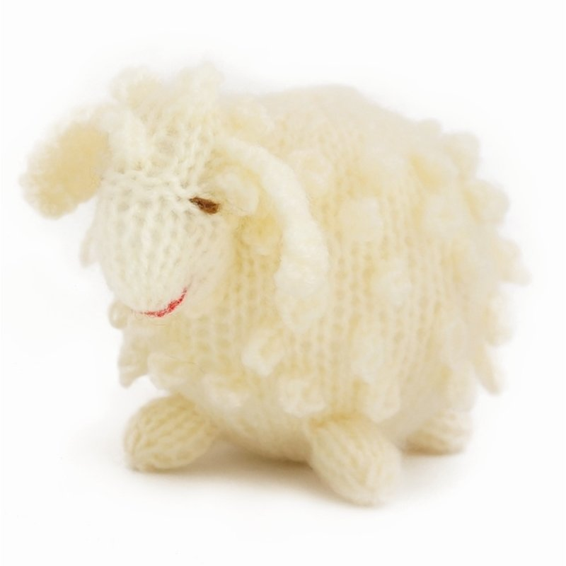 Brooch, knitted sheep