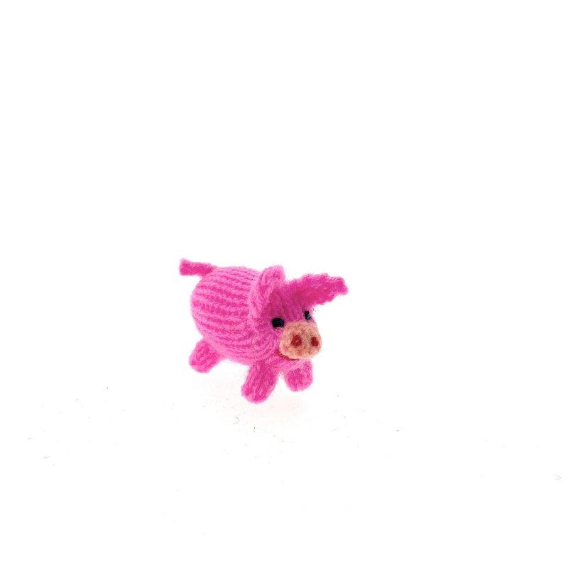 Little puppet, knitted pig