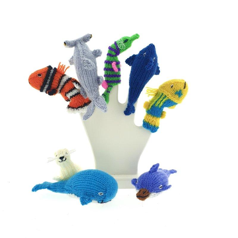 Vingerpoppen, zeedieren