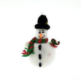 Gebreid sneeuwpopje