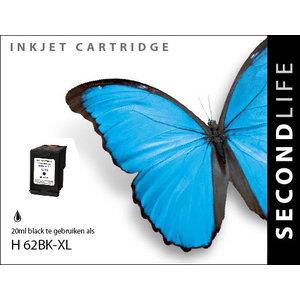 SecondLife Inkjets HP 62 XL Black 20