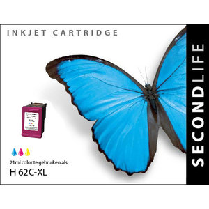 SecondLife Inkjets HP 62 XL Color 21