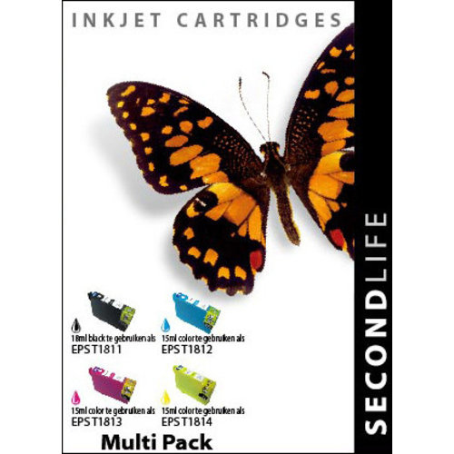 SecondLife Inkjets Multipack Epson 18 XL (T 1816) 18+15*3
