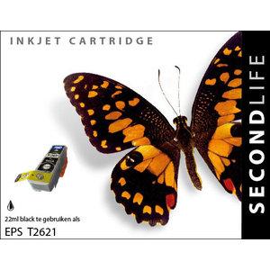 SecondLife Inkjets Epson 26 XL  Black XL (T 2621) 22