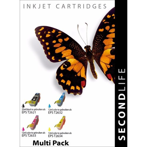 SecondLife Inkjets Multipack Epson 26 XL (T 2636) 22+12*3