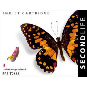 SecondLife Inkjets Epson 26 XL Magenta (T 2633) 12