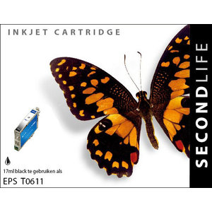 SecondLife Inkjets Epson T 611 Black 17