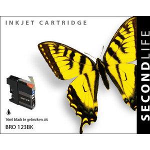 SecondLife Inkjets Brother 123 Black 16