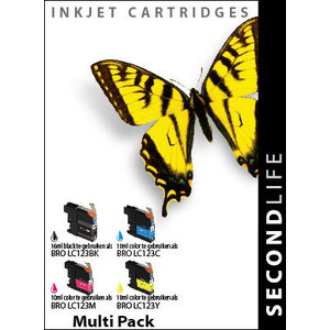 SecondLife Inkjets Multipack Brother 123 BK, C, M en Y 16+10*3
