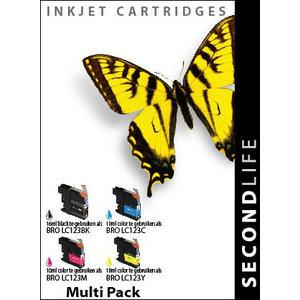 SecondLife Inkjets Multipack Brother 123 BK, C, M en Y 16+10*3