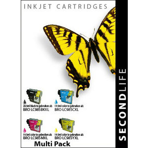 SecondLife Inkjets Multipack Brother 985 BK, C, M en Y 28.5/19.5*3
