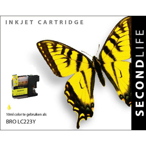 SecondLife Inkjets Brother LC 223 Yellow 10