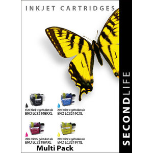 SecondLife Inkjets Multipack Brother LC 3219 BK, C, M en Y 65+20*3