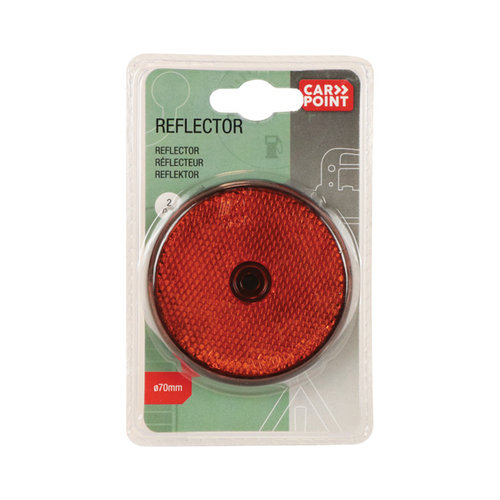 Carpoint Reflectoren rond 70mm oranje 2st