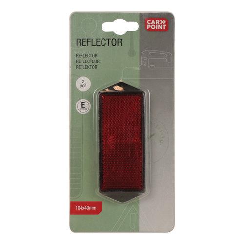 Carpoint Reflector Rood 104x40mm 2 stuks